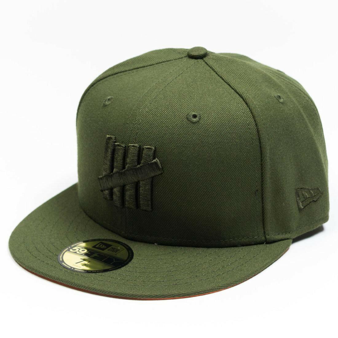 メンズ帽子, キャップ  UNDEFEATED X NEW ERA EJECT FITTED CAP GREEN OLIVE