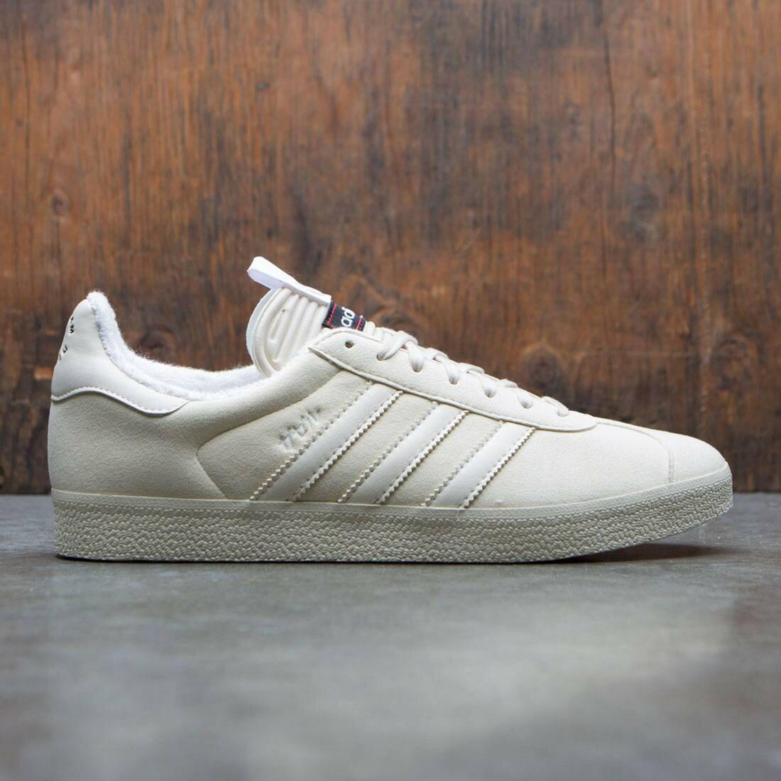 メンズ靴, スニーカー  ADIDAS WHITE ADIDAS CONSORTIUM X UNITED ARROWS AND SONS SLAM JAM MEN GAZELLE SNEAKER EXCHANGE BURGUNDY FOOTWEAR CHALK