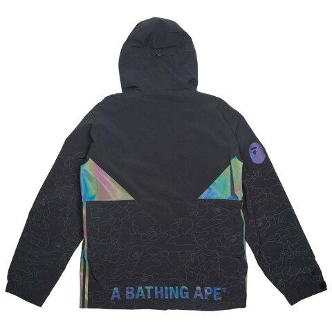 92f3cc59cc01b 【海外限定】アディダス コート ジャケット 【 ADIDAS X BAPE MEN SNOW JACKET BLACK 】【送料無料】