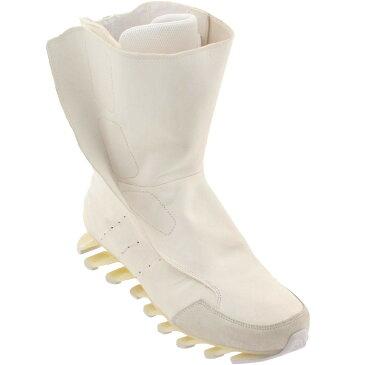 アディダス ADIDAS ハイ 白 ホワイト スニーカー 【 WHITE ADIDAS X RICK OWENS MEN SPRINGBLADE HIGH BOOTS 】 メンズ スニーカー