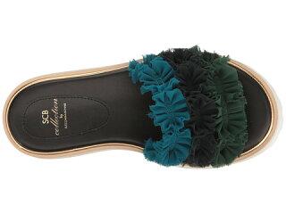 ハイsuecommabonniefrilldetailedhighplatformレディース靴サンダル靴