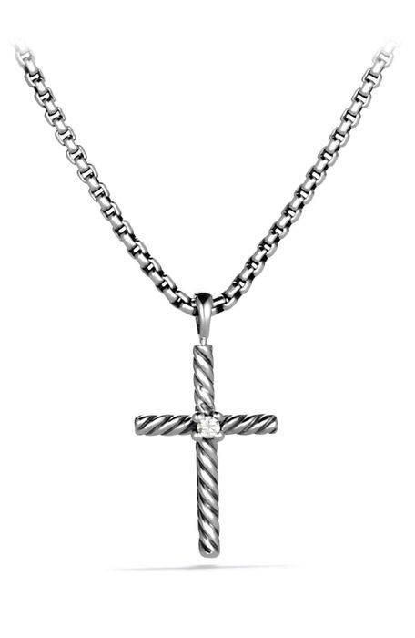 クロス ダイヤモンド チェイン ' cable classics cross with diamond on chain ジュエリー ペンダント アクセサリー メンズジュエリー ネックレス