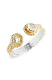 crystalquartzopenstackringクリスタルクウォーツオープンスタックリングアクセサリーメンズジュエリージュエリー指輪