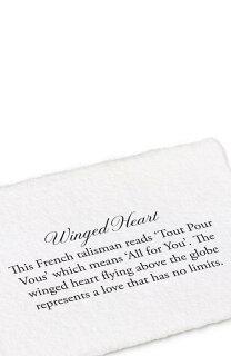 wingedhearttalismannecklaceハートネックレスメンズジュエリーアクセサリージュエリーペンダント