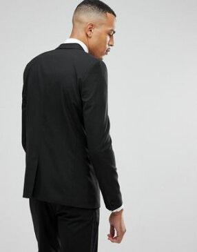 エイソス ASOS デザイン トール スリム タキシード スーツ ジャケット イン 黒 ブラック メンズファッション 【 SLIM BLACK DESIGN TALL TUXEDO SUIT JACKET IN 0 】