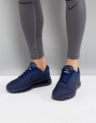 マックス エアー ナイキ ランニング ブルー 青 nike running air max 2017 trainers in blue 849559405 メンズファッション:スニーカーケース