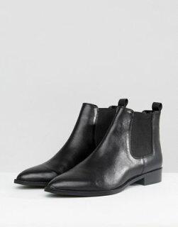 エイソスブーツレザーasosautomaticleatherchelseabootsレディース靴靴
