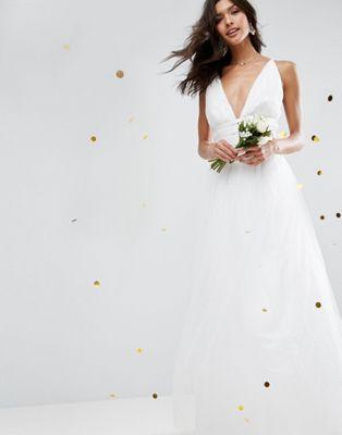 ドレス ワンピース エイソス asos bridal tulle maxi prom dress:スニーカーケース