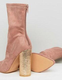 アンクルパブリックブーツピンクデザイアーユニバースpublicdesireuniversepinkcrackledheeledankleboots靴レディース靴