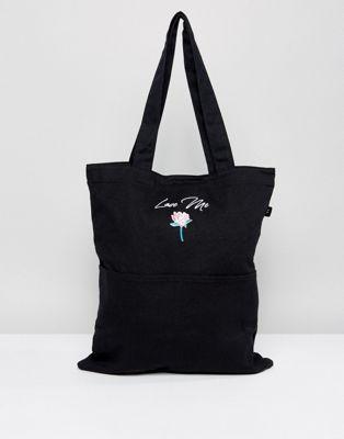 バッグ ラブ レイジー トート lazy oaf love me embroidered tote bag 美容 香水 コスメ