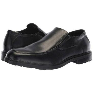 バン ジョシュ 黒 ブラック メンズ 男性用 ローファー 靴 メンズ靴 【 BLACK VAN HEUSEN JOSH 】