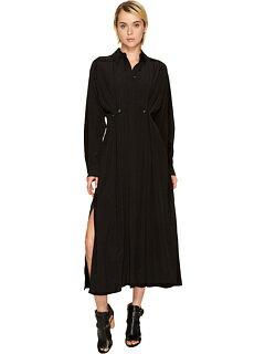 ロング スリーブ シャツ ドレス ワンピース 黒 ブラック レディース 女性用 レディースファッション 【 SLEEVE BLACK SPORTMAX OXALIS LONG SHIRT COLLARED DRESS 】