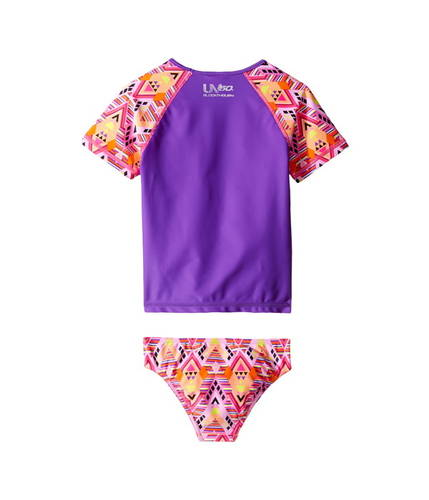 ShortショーツハーフパンツSleeveSleeveスリーブPrintedプリンテットRashguardラッシュガードTwo-PieceSwimsuit水着Setセット(LittleKids)