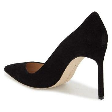 トー ポンプ 黒 ブラック スエード スウェード 'BB' シューズ レディース靴 靴 パンプス 【 PUMP BLACK MANOLO BLAHNIK POINTY TOE SUEDE 】