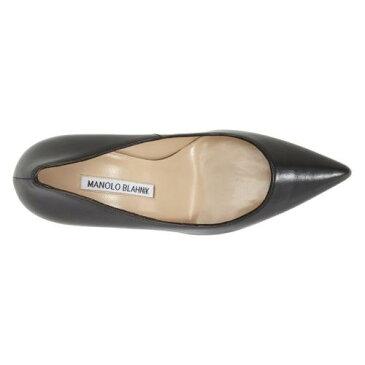 ポンプ 黒 ブラック レザー シューズ レディース靴 パンプス 靴 【 PUMP BLACK MANOLO BLAHNIK BB LEATHER 】