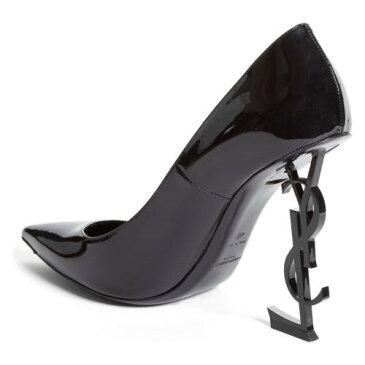 セイント オピウム ポンプ 黒 ブラック パテント シューズ 靴 レディース靴 パンプス 【 PUMP BLACK SAINT LAURENT OPIUM YSL PATENT 】