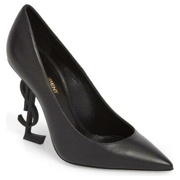 セイント オピウム ポンプ 黒 ブラック シューズ レディース靴 パンプス 靴 【 PUMP BLACK SAINT LAURENT OPIUM YSL LEATHER 】