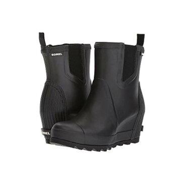 レイン ウェッジ チェルシー ソルト レディース 女性用 メンズ靴 【 SOREL JOAN RAIN WEDGE CHELSEA BLACK SEA SALT 】