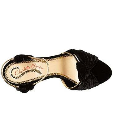 シャーロット オリンピア 黒 ブラック ベルベット レディース 女性用 レディース靴 パンプス 【 BLACK CHARLOTTE OLYMPIA BROADWAY 95 VELVET 】
