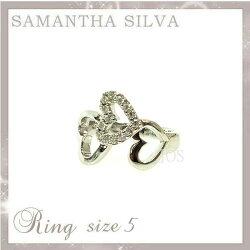 サマンサタバサアクセサリーSamanthaSilvaサマンサシルバSVCZハートダイヤリング5号アクセサリープレゼントギフト指輪リング
