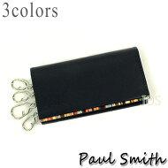 ポールスミス財布メンズPaulSmithストライプポイント4連キーケース全3色送料無料代引き料有料消費税込