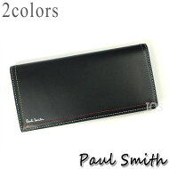 ポールスミス財布メンズPaulSmithダブルステッチかぶせ長財布全2色P708NN送料無料代引き料有料消費税込