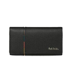 ポールスミス Paul Smith メンズ 財布 インセットストライプ キーケース ブラック
