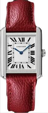 カルティエ CARTIER 時計 タンクソロ SM 腕時計 ボルドーカラー グレインド カーフスキン
