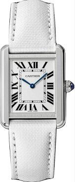カルティエ CARTIER 時計 タンクソロ SM 腕時計 ホワイト カーフ
