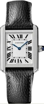 カルティエ CARTIER 時計 タンクソロ SM 腕時計 ブラック グレインド カーフスキン