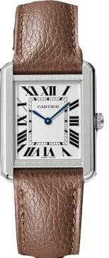 カルティエ CARTIER 時計 タンクソロ SM 腕時計 トープブラウン グレインド カーフスキン