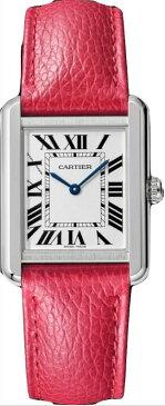 カルティエ CARTIER 時計 タンクソロ SM 腕時計 フューシャピンク グレインド カーフスキン