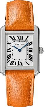 カルティエ CARTIER 時計 タンクソロ SM 腕時計 オレンジ グレインド カーフスキン