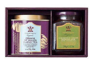 ハイグローヴ HIGHGROVE LONDON 紅茶 ティー 紅茶・ジャム詰合せ オーガニックプリンスオブウェールズブレンド125g