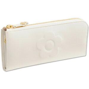 2309e819100a Mary Quant マリークワント 財布 長財布 ビッグエンボスデイジー パース ホワイト
