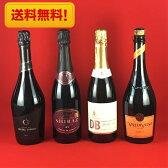 ワインセット スパークリングワイン 送料無料 ニューワールド スパークリングワイン 飲み比べ 4本セット