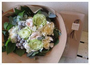 花束と花瓶のセット【花束のお色目がお選びいただけます】【花瓶と一緒のお届けで安心】【楽ギ...