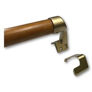 手すり出隅ブラケット付常時在庫あり敬老の日Φ32mm×400mm信頼の日本製玄関階段室内屋内木製木製手すりI型Iam400GDE