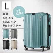 スーツケース キャリーバッグ ファスナー