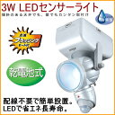 3W LEDセンサーライト 乾電池式 (LED-80) 【R...