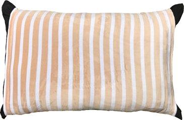 のびのび 筒型 枕カバー マイクロファイバー ボーダー BR ブラウン 送料無料 おしゃれ かわいい 超 やわらか しっとり あったか 35×50 43×63 低反発枕