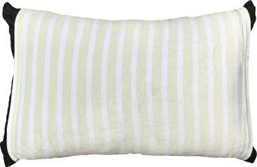 のびのび 筒型 枕カバー マイクロファイバー ボーダー GN グリーン 送料無料 おしゃれ かわいい 超 やわらか しっとり あったか 35×50 43×63 低反発枕