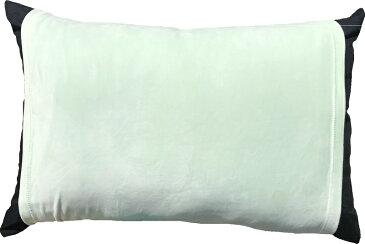 のびのび 筒型 枕カバー マイクロファイバー 無地 GN グリーン 送料無料 おしゃれ かわいい 超 やわらか しっとり あったか 35×50 43×63 低反発枕