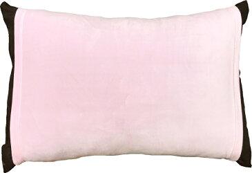 のびのび 筒型 枕カバー マイクロファイバー 無地 PK ピンク 送料無料 おしゃれ かわいい 超 やわらか しっとり あったか 35×50 43×63 低反発枕