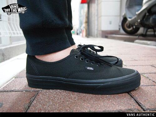 VN-0EE3BKA(VN000EE3BKA) VANS Authentic BLACK/BLACK バンズ オーセンティック ブラック/ブラック...