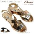 【あす楽】クラークス Clarks レディース サンダル ブリスメドウ 832F クロスストラップ カジュアル Bliss Meadow 本革