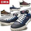 【あす楽】エドウィン EDWIN ミッドカット EDM346 メンズ カジュアルシューズ スニーカー カップインソール INTERNATIONAL BASIC