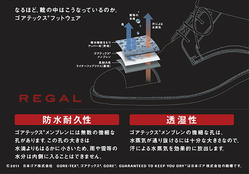 REGAL(リーガル)『チャッカブーツGORE-TEXフットウェア(40NRBD4)』