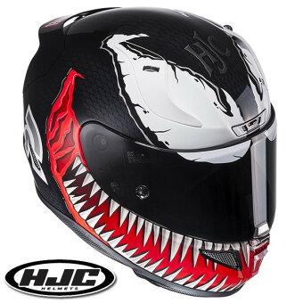 HJCMARVELRPHA11ベノムフルフェイスヘルメット【M(57-58cm):HJH112VENOM】