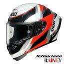 ショウエイ X-FOURTEEN RAINEY 【TC-1(RED/WHITE) Lサイズ】 X-14 レイニー レプリカ フルフェイスヘルメット